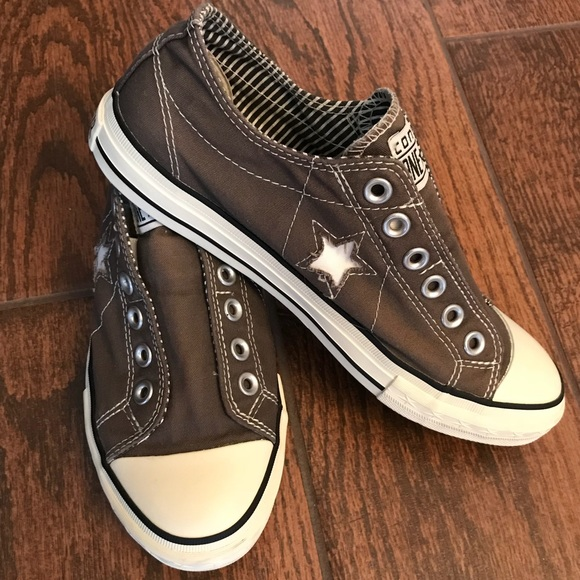 Charcoal Slipon Converse Onestar Sz 85